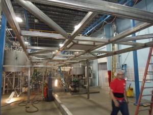 Stainless steel mezzanine
