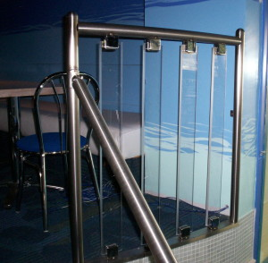 Stainless steel and lexan