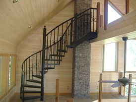 Custom steel staircase