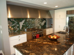 Stainless steel counter tops and custom exhaust hoods